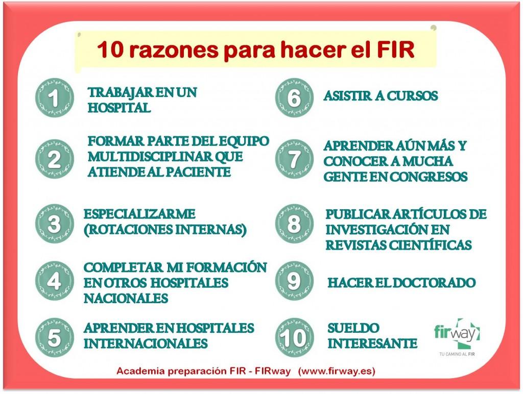 post 10 razones para el FIR