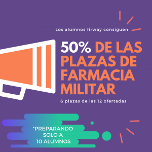 42% de las plazas de farmacia militar