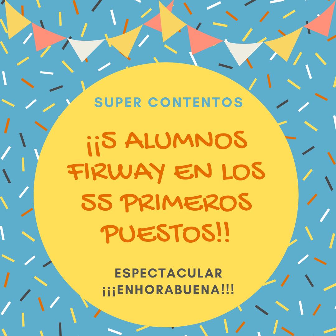 5 ALUMNOS FIRWAY EN EL TOP DEL FIR 2019