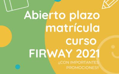 ABIERTO PLAZO DE MATRÍCULA CURSOS 2021