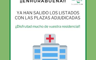 Disponible listado de plazas adjudicadas 2021