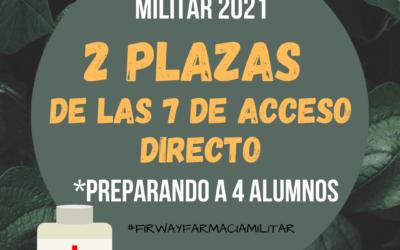 2 PLAZAS DE FARMACIA MILITAR 2021
