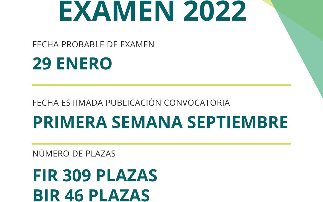 FECHA PROBABLE DE EXAMEN: 29 ENERO