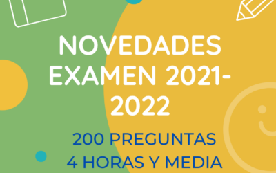 Novedades examen 2021-2022